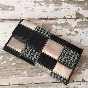 Giani Bernini checkbook wallet black leather